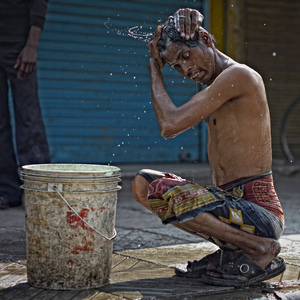 Morning Wash Ritual Delhi | Leica APO-SUMMICRON 75mm f2 ASPH <br> Click image for more details, Click <b>X</b> on top right of image to close