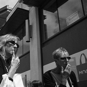 Smokers - Sheffield | Leica SUMMICRON 50mm f2 <br> Click image for more details, Click <b>X</b> on top right of image to close