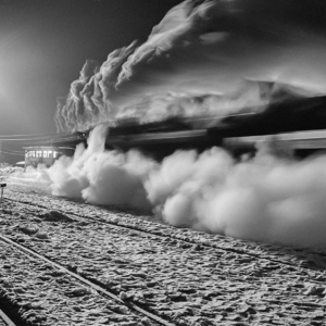 Night train in winter | Nikon 28 mm f/3.5 <br> Click image for more details, Click <b>X</b> on top right of image to close