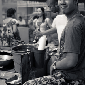 Night Market in BW