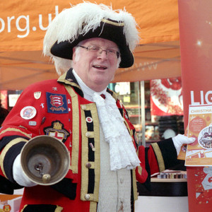 Town Crier | Nikon 50 mm f/1.8 <br> Click image for more details, Click <b>X</b> on top right of image to close