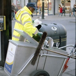London Street Cleaner | FD 50mm f1.8 <br> Click image for more details, Click <b>X</b> on top right of image to close