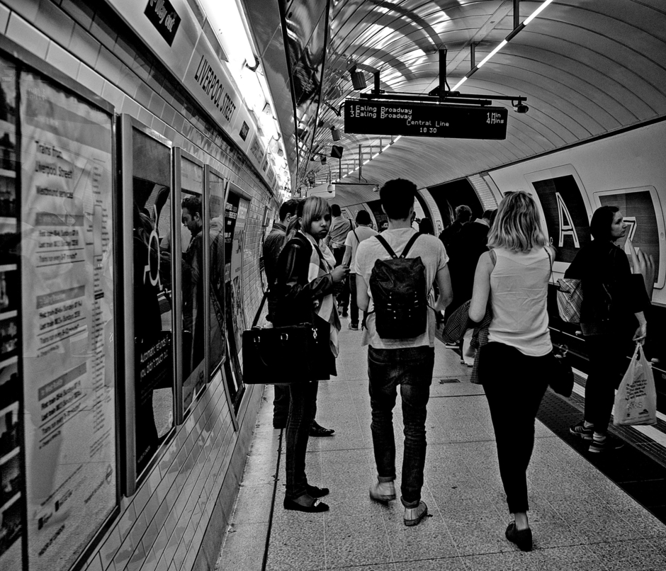 Waiting Liverpool Street Station | Leica ELMARIT 28mm f2.8 ASPH <br> Click image for more details, Click <b>X</b> on top right of image to close