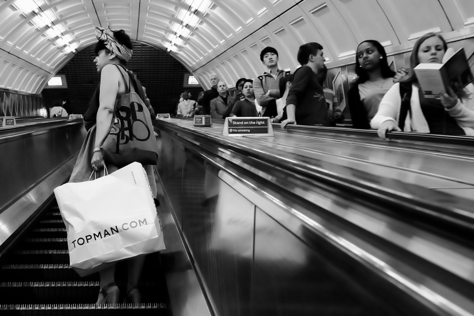 Up and Down the Escalator | Zeiss Zeiss Sonnar T* 35mm f2 <br> Click image for more details, Click <b>X</b> on top right of image to close