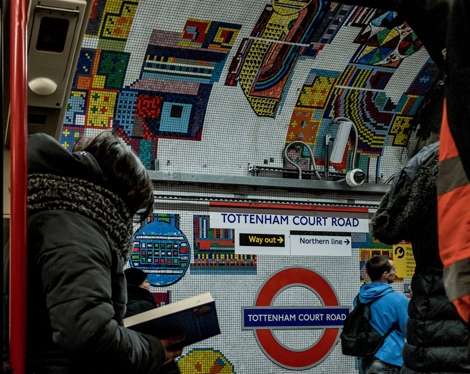Tottenham Court Underground station | Zeiss Zeiss Sonnar T* 35mm f2 <br> Click image for more details, Click <b>X</b> on top right of image to close