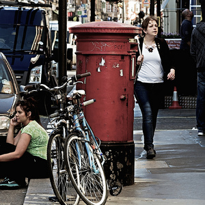 Marylebone Sidewalk Strollers | Zeiss G Sonnar 90mm f2.8 <br> Click image for more details, Click <b>X</b> on top right of image to close